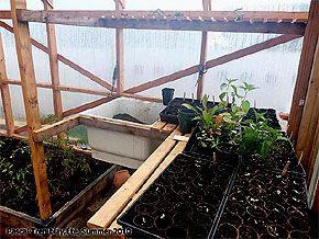 Table de rempotage - Idée de banc de plantation - Serre de Jardin ...