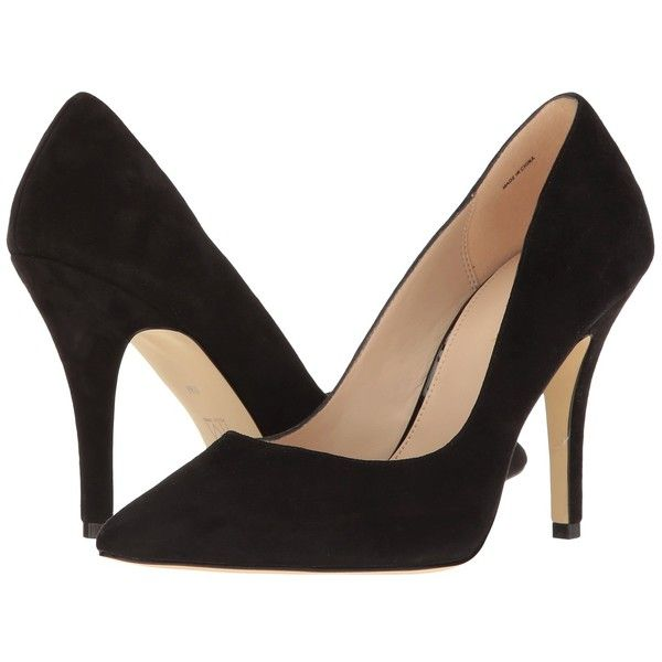 d603534714d Pelle Moda Valley (Black Suede) High Heels ( 120) ❤ liked on Polyvore  featuring shoes