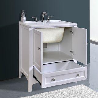 Stufurhome Bathroom Vanities stufurhome 30 inch white laundry utility sinkstufurhome