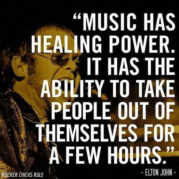 Music Has Healing Power It Has The Ability To Take People Out Of