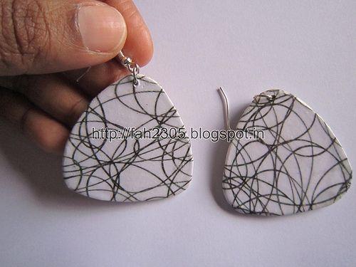 Handmade Jewelry - Card Paper Earrings  (Album 3) (34)