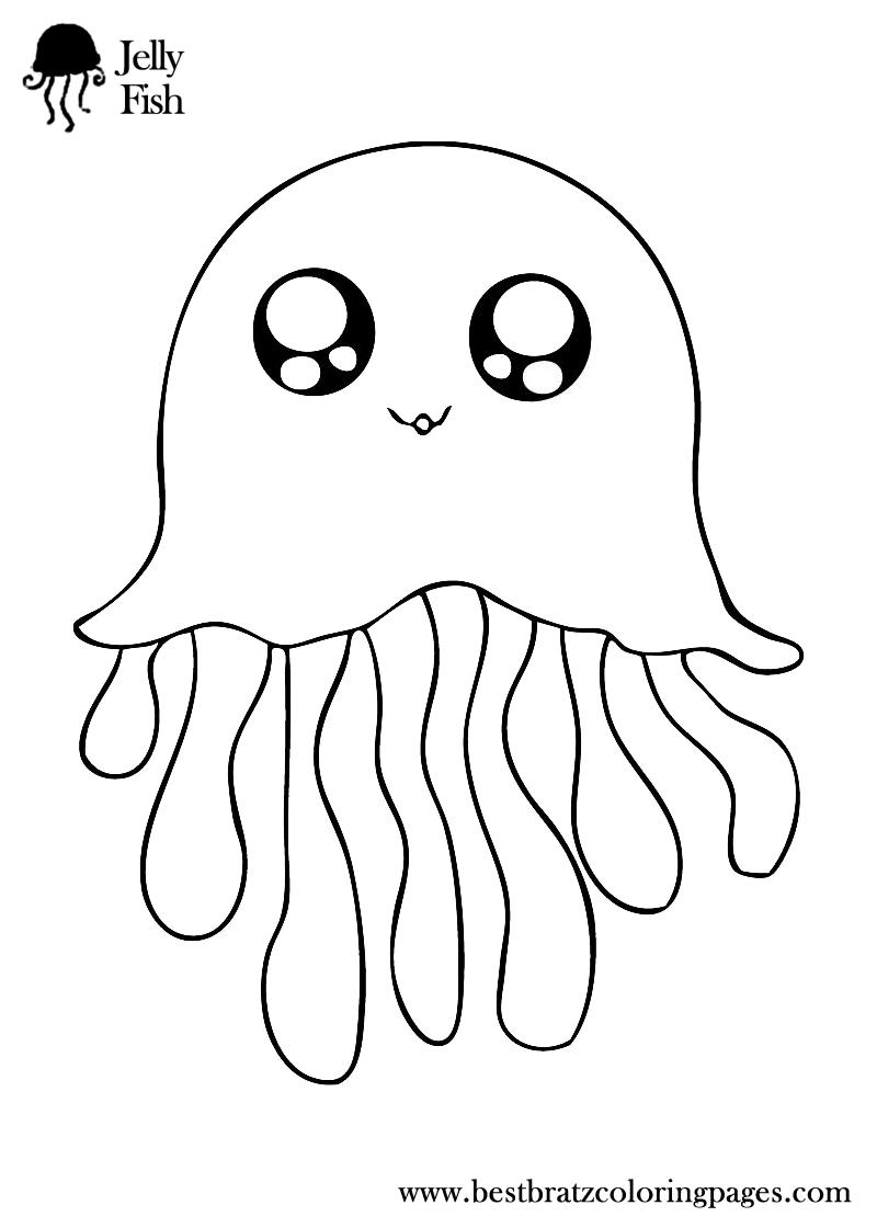 Jellyfish Coloring Pages Bratz Coloring Pages Pez Para Colorear Libros De Fieltro Libros De Tela