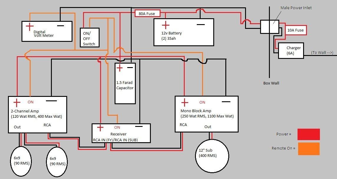 diy portable stereo mike electrical diy subwoofer diy. Black Bedroom Furniture Sets. Home Design Ideas