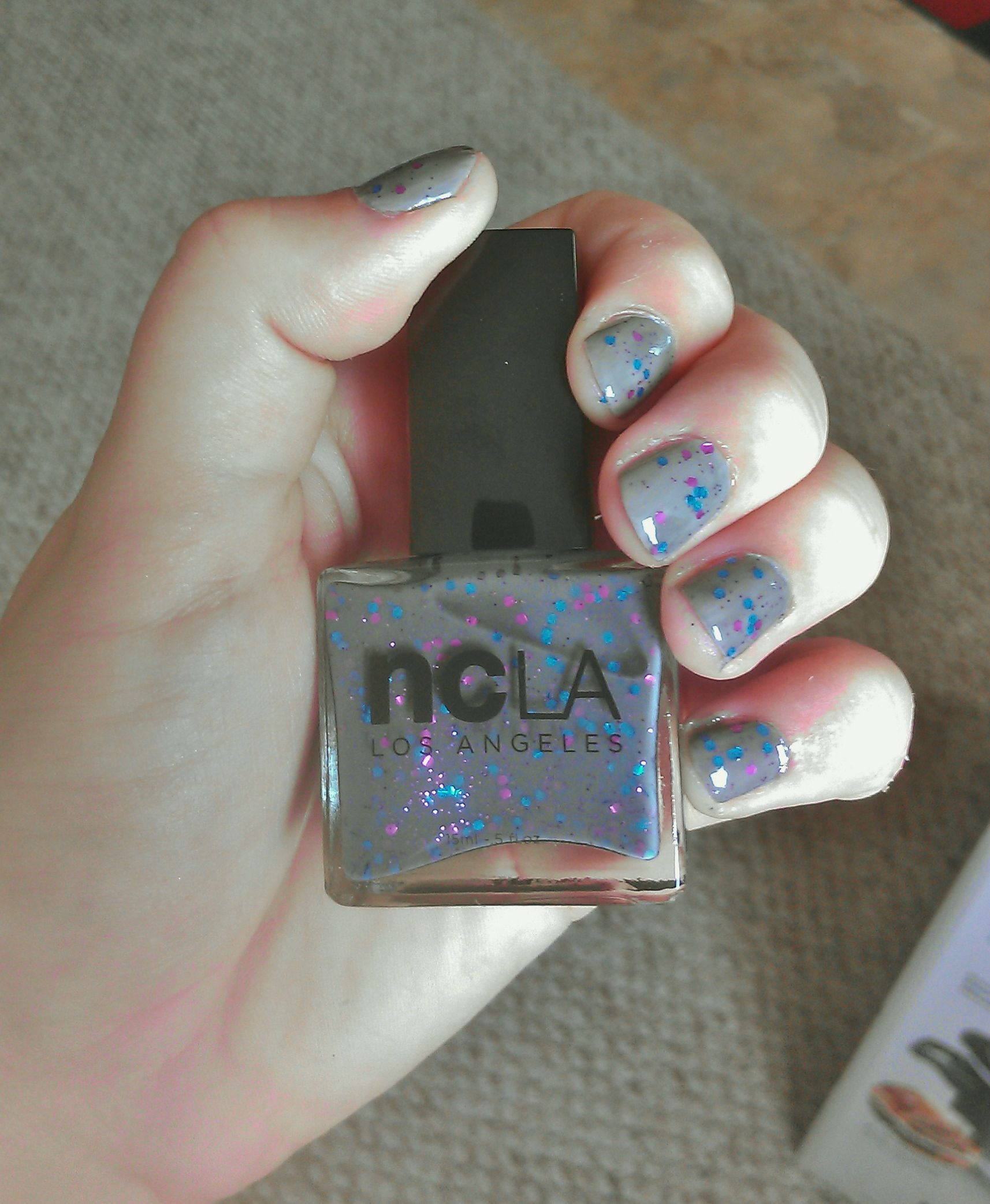 Dark for Fall, but still with a pop of color! NCLA Sugar