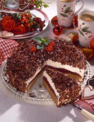 Lebkuchen Torte Mit Kirschen Rezepte Lebkuchen Kuchen Und Kirschen
