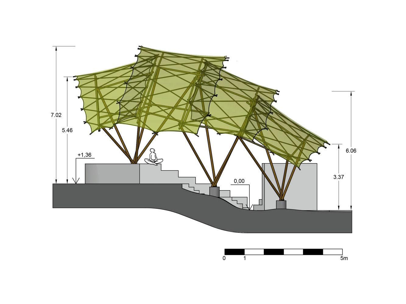 Gallery Of Bamboo Amphitheater Space Structure Bambutec Design