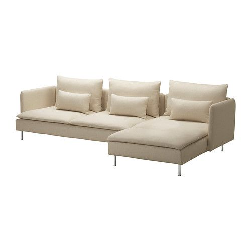 Small Sectional Sofa S DERHAMN Sofa and chaise lounge Isefall natural IKEA