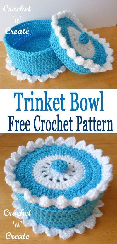 Trinket Bowl Free Crochet Pattern Crochetholic Hilariafina
