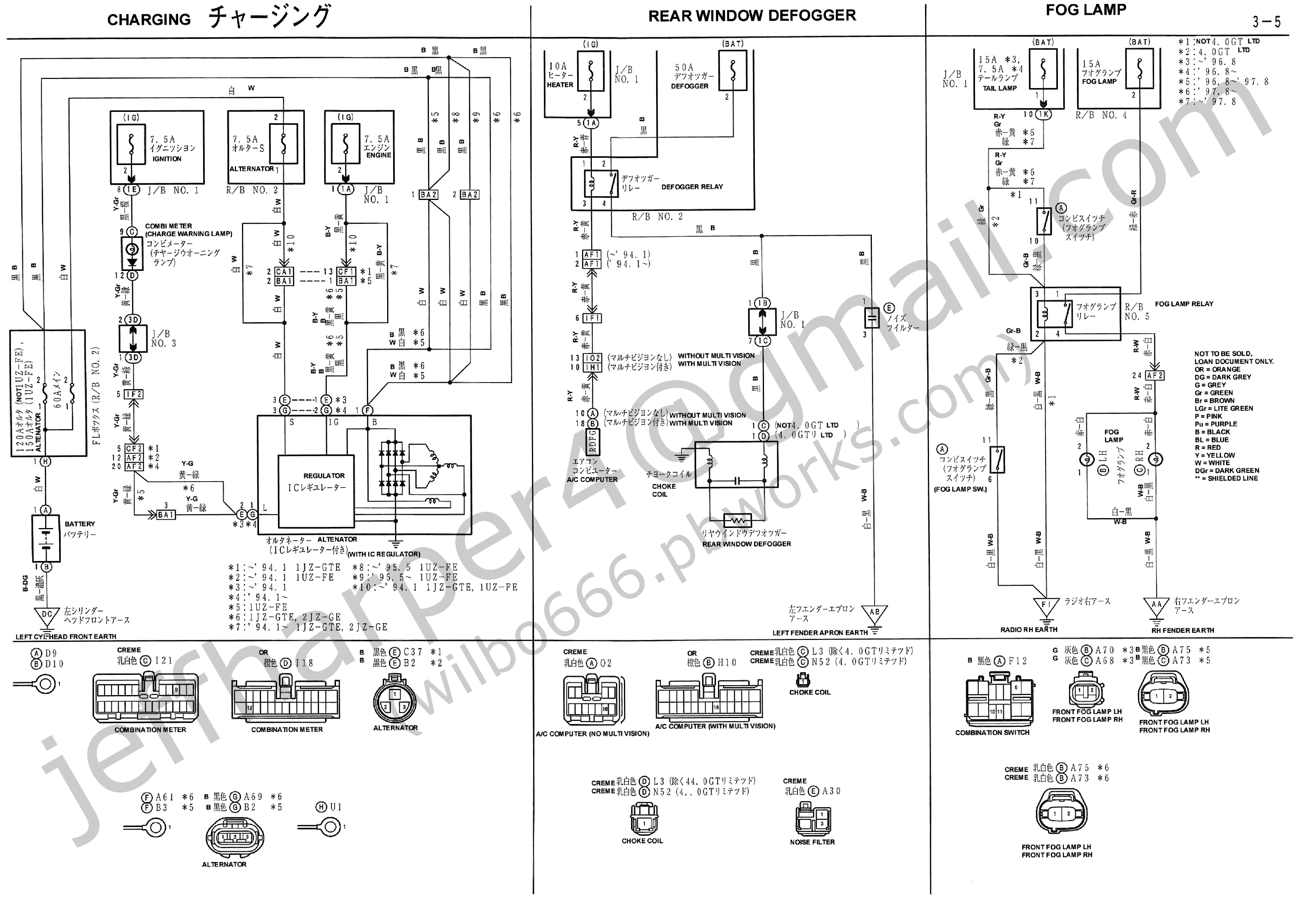 Wilbo666 1jz Gte Jzz30 Soarer Engine Wiring Within 1jz Diagram รถยนต