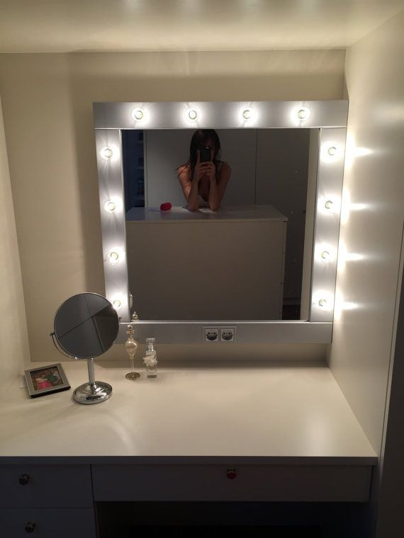 make up mirror with lights vanity mirror in silver hollywood style mirror for makeup