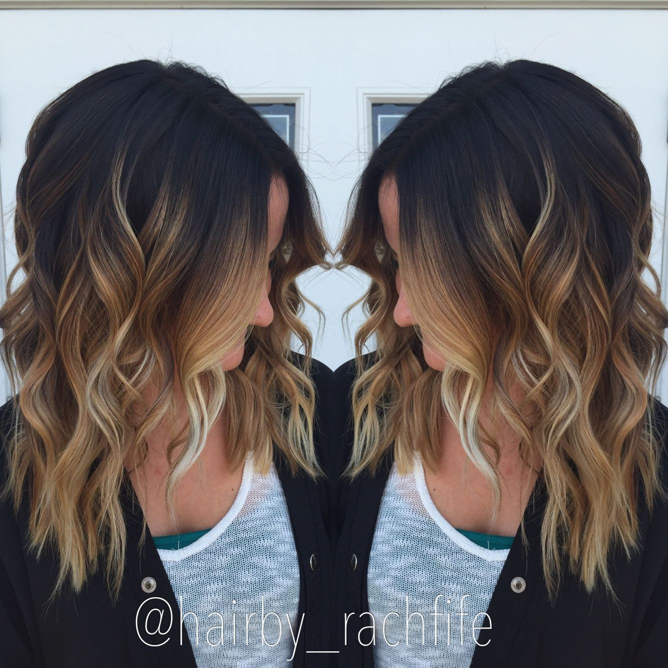 high contrast stretched root balayage ombre fall hair. Black Bedroom Furniture Sets. Home Design Ideas