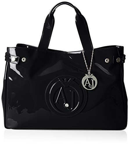 346cd258ee9 Armani Jeans Patent Crystal East West Tote Black -- Want to know more