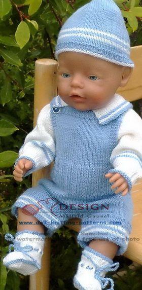 Puppenkleider stricken   Puppen und Baby   Pinterest   Hellblaue ...