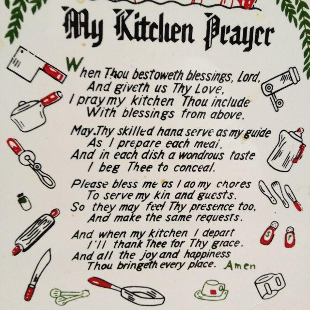 Kitchen Prayer | Kitchen prayers