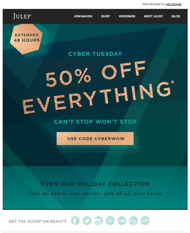 email promotion template