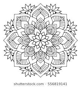 Flower Mandalas Vintage Decorative Elements Oriental Pattern