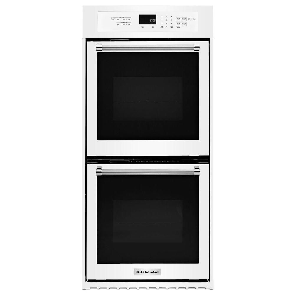 Kitchenaid 24 in double electric wall oven selfcleaning