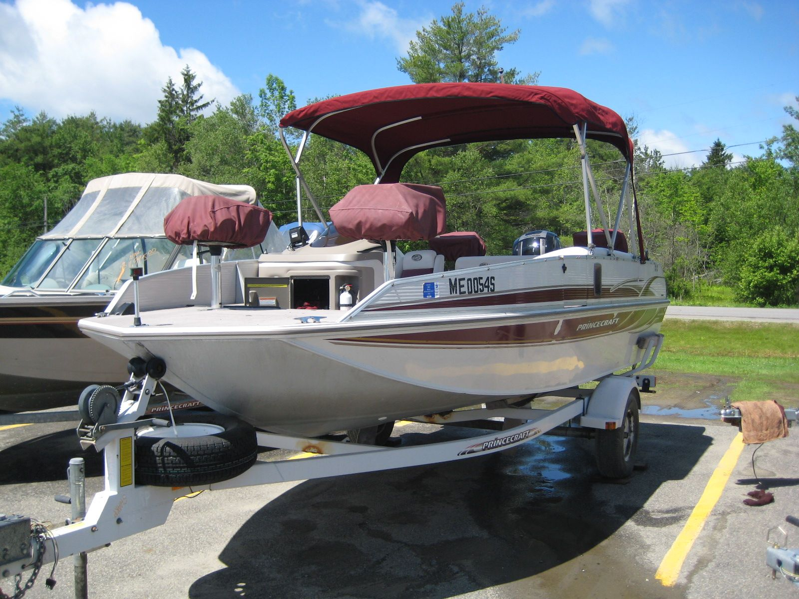 used captain chairs for boats desk chair png 2001 princecraft ventura 191 deck boat powered by a 2012