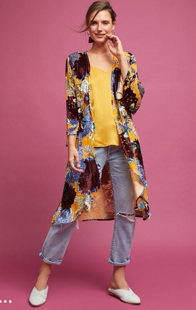 a577a5a2a25 Anthropologie Aurelia Velvet Floral Kimono $138 half off! #Anthropologie  #Kimono