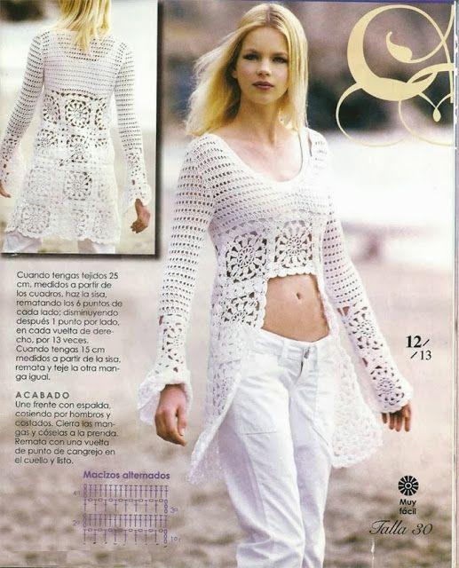 ao with <3 / Patrones Crochet: Tunica Top de Crochet abertura ...