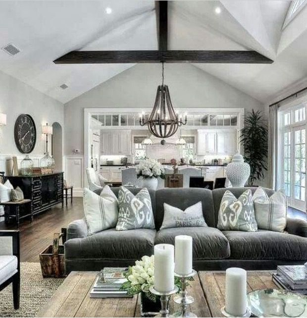Transitional Open Plan Kitchen With Living Room Access: Pin By Marissa Cook On Ideas For The House