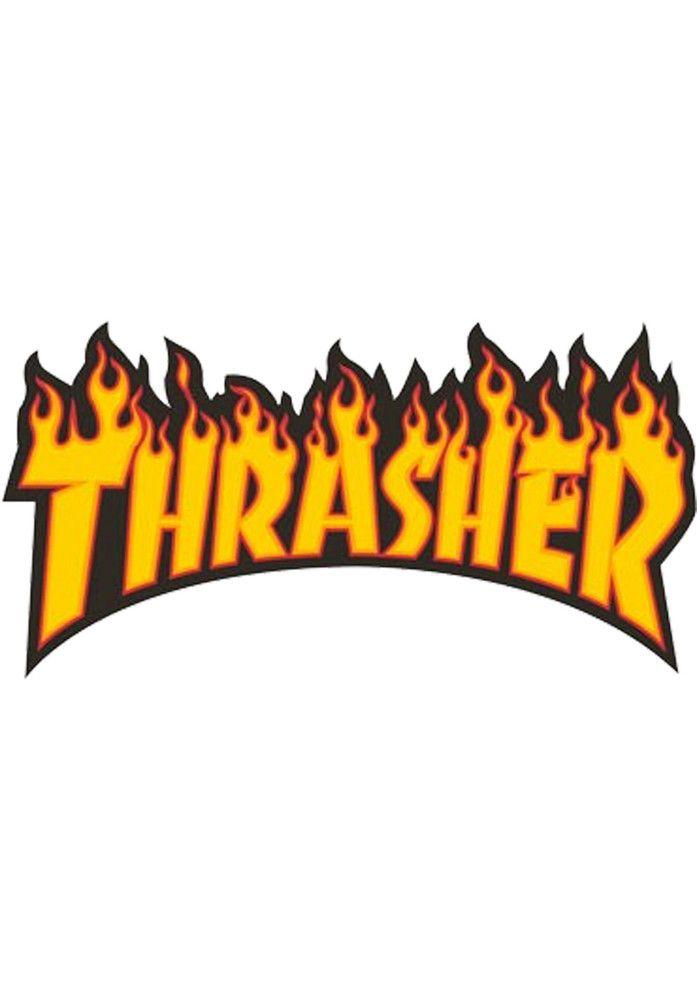 Thrasher Flame-Sticker-(medium) - titus-shop.com  #Misc. #AccessoriesFemale #titus #titusskateshop