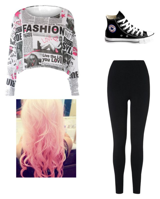 """""""Sem título #777"""" by vitoriastyles0908 ❤ liked on Polyvore featuring L.K.Bennett, Converse and Cotton Candy"""