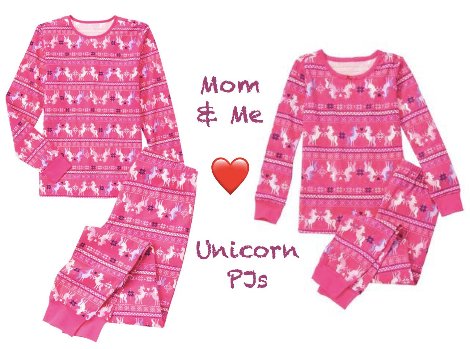 Mom and Me Love Unicorn PJs  c4a948c8b
