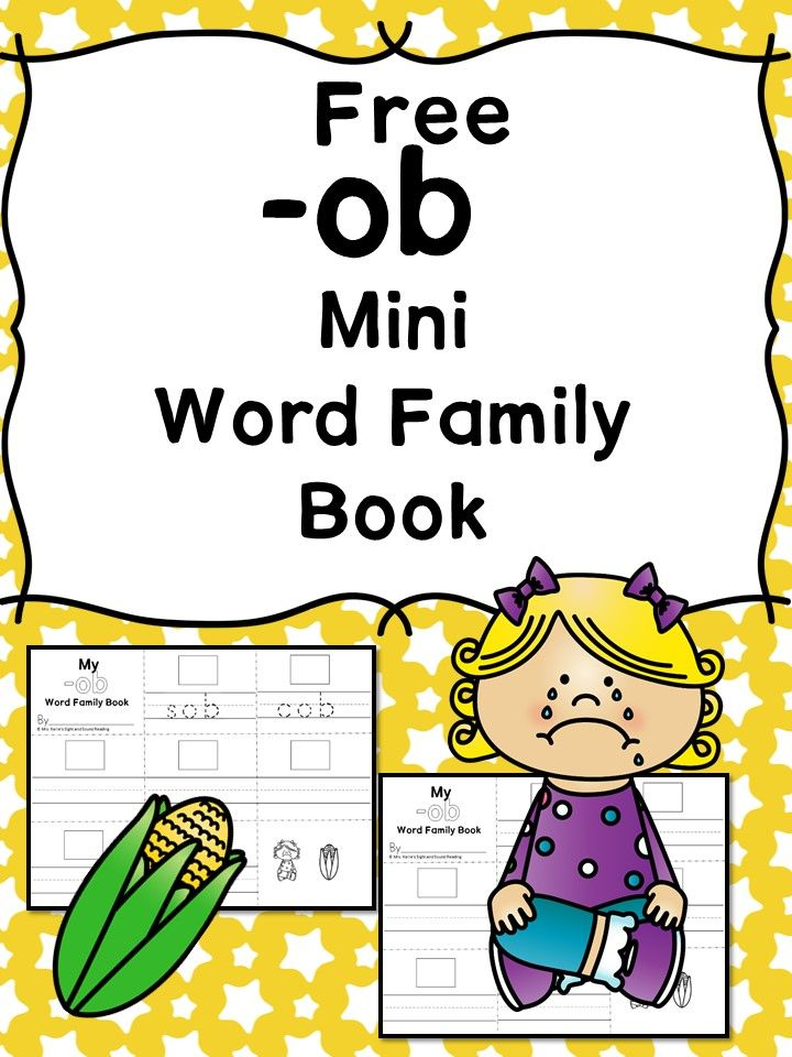 Printable Worksheets word families worksheets kindergarten : ob' CVC Word Family Worksheet | Cvc word families, Worksheets and ...
