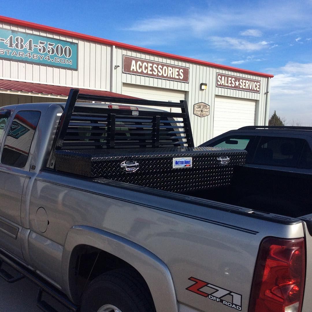 Installed Ranch Hand Louverd Headache Rack And Better Built Black F150 With Tool Box Headacherack Toolbox Follow Lonestar4x4