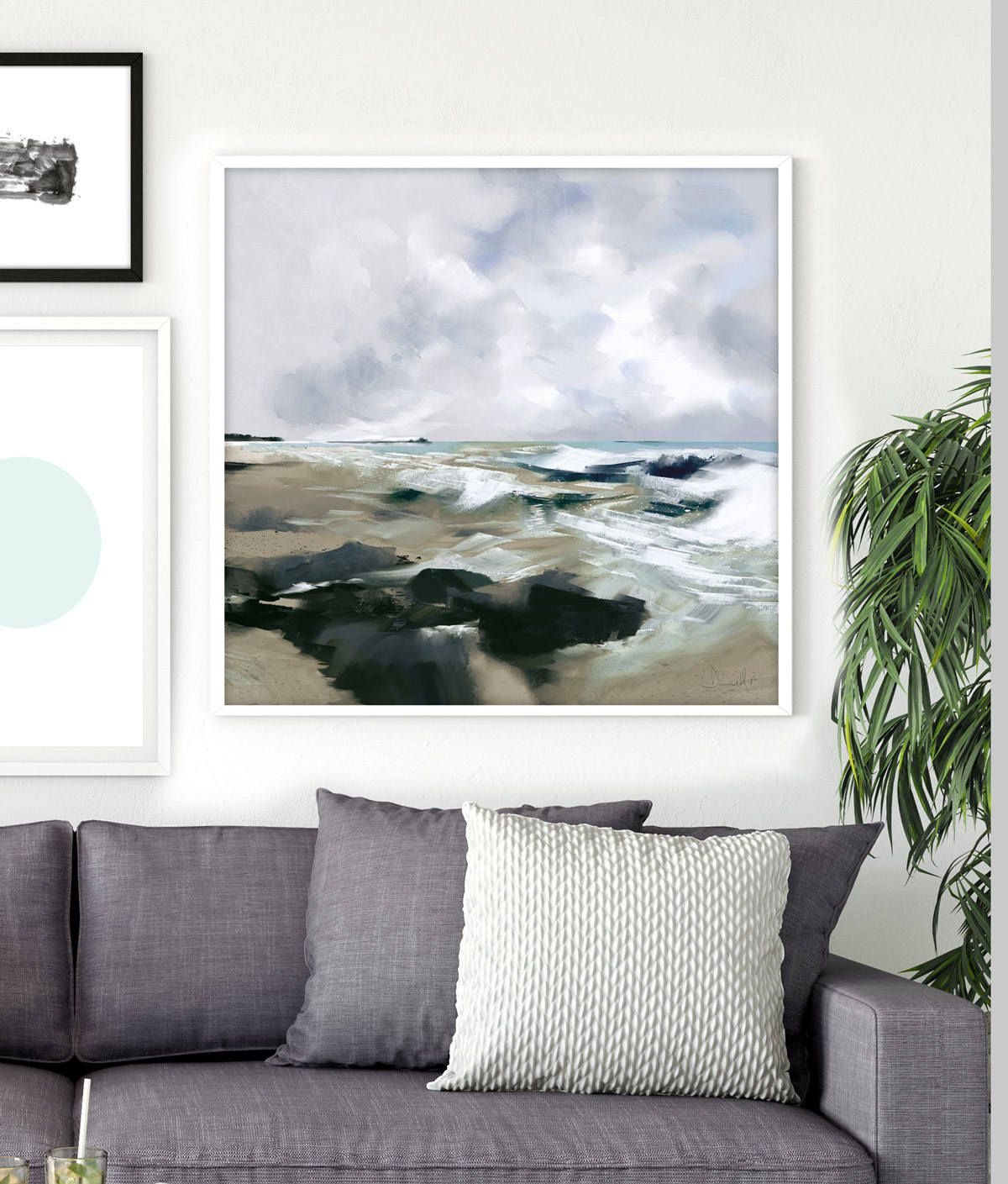 Printable Abstract Art Seascape Painting 24x36 Print Dan Hobday Abstract Seascape Large Wall Art Ocean Art Ocean Print Navy Blue Art Seascape Paintings Navy Blue Art Ocean Art