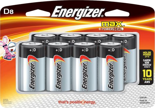 Energizer Max D Batteries 8 Pack E95bp 8h Best Buy Energizer Cool Things To Buy Batteries