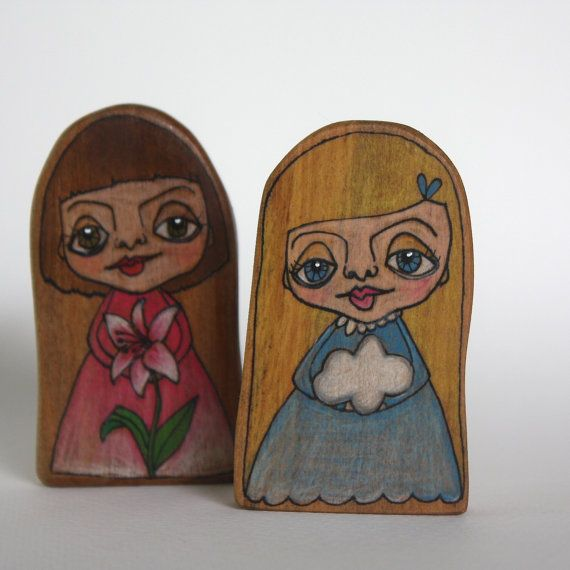 CUSTOM Illustrated Wood Girl or Boy   Made to Order by JettasNest, $40.00