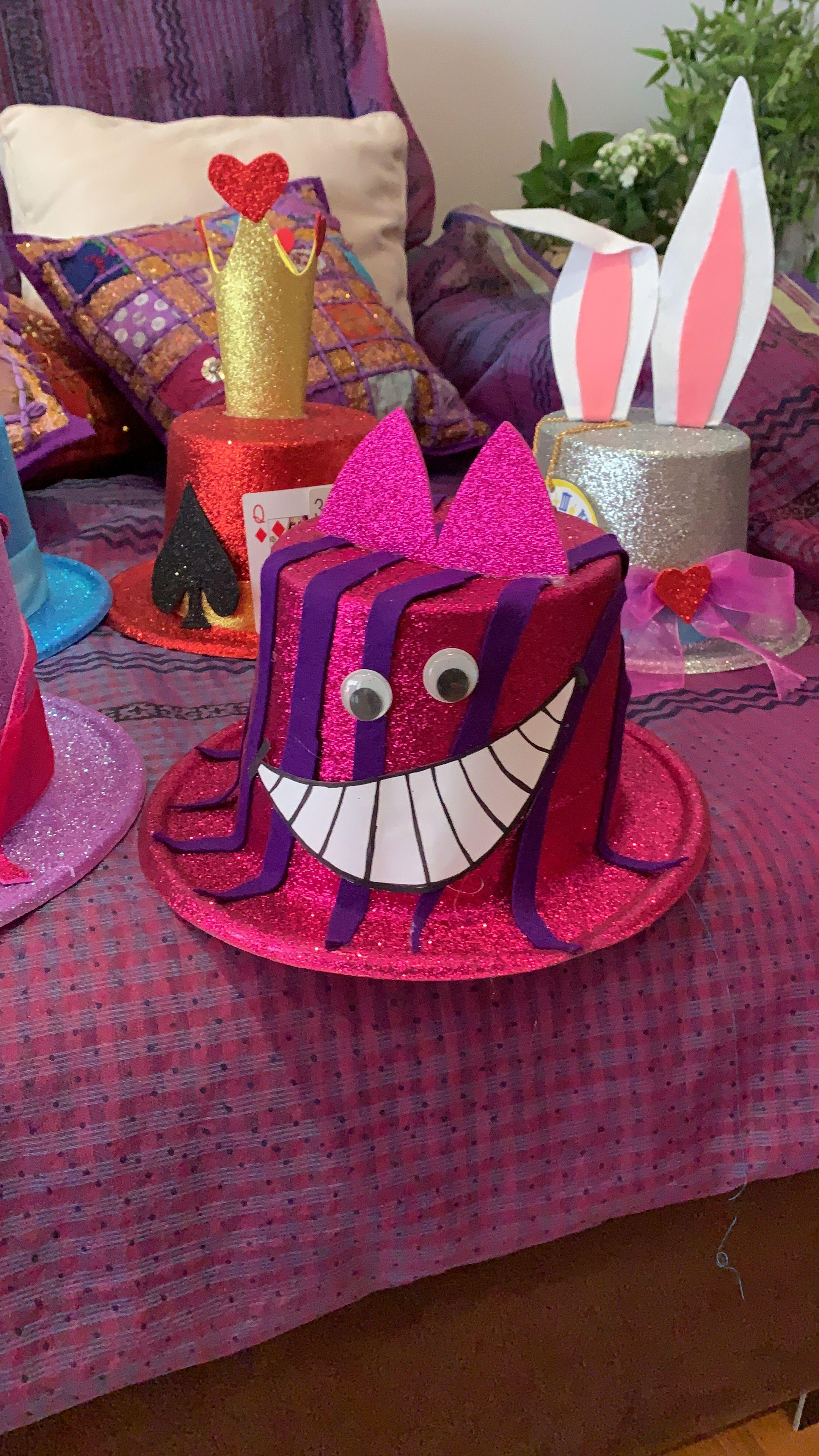 Sombrero gato de Cheshire Decoración disfraces fiesta Alicia en el pais de las Maravi… - Disfraz ...