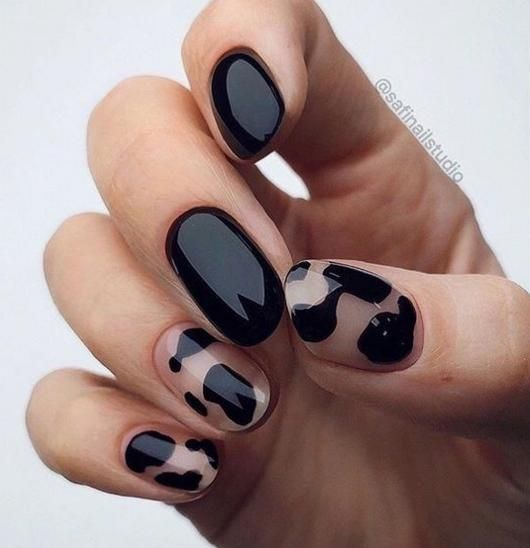 Animal Prints Nail Art Idea
