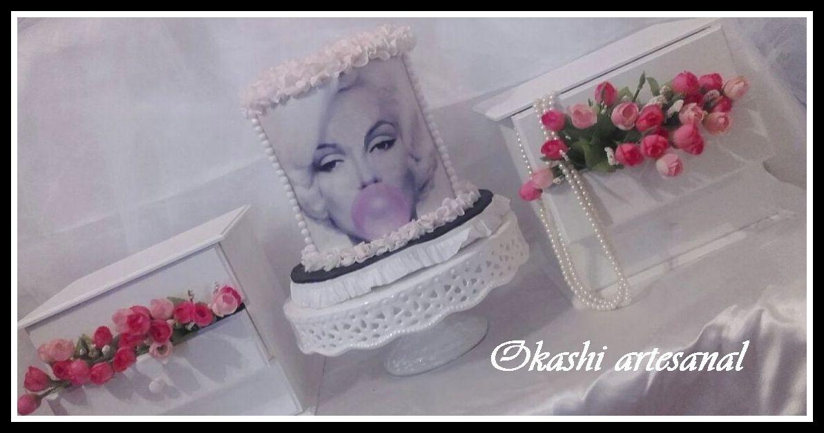 CAKE MARILYN  cake 2 pisos unificados decoración totalmente comestible