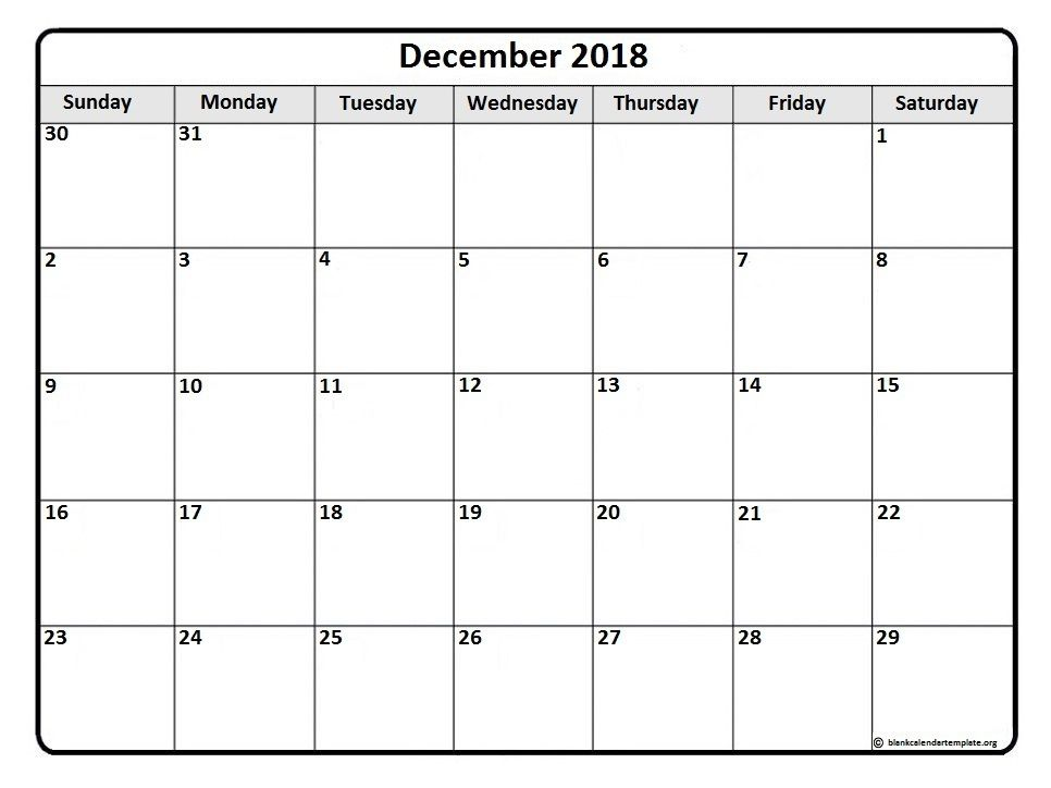 December #calendar #printable December 2018 monthly calendar - monthly calendar