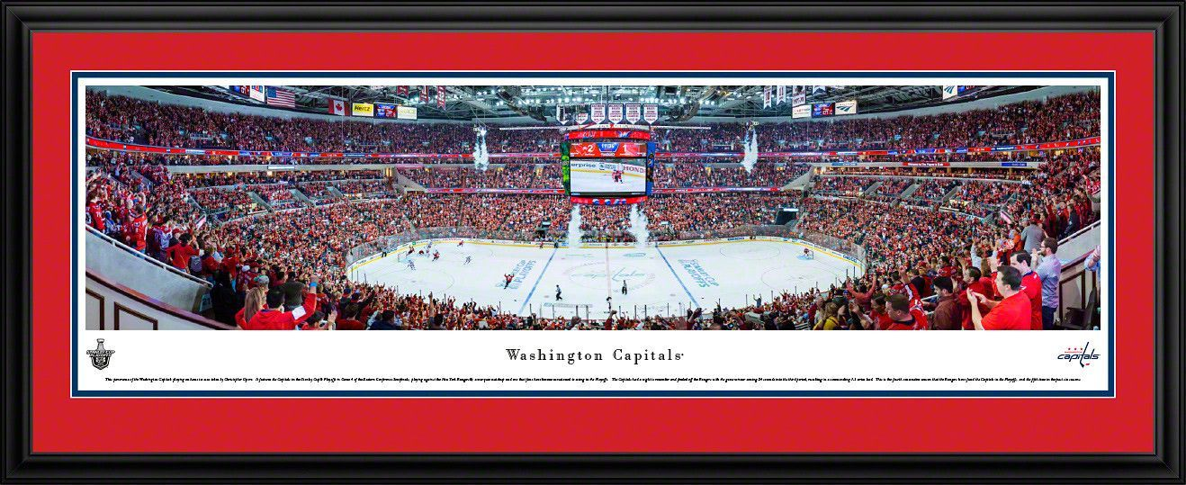 d0f46dd7653 Washington Capitals Panoramic - Verizon Center Picture Framed ...