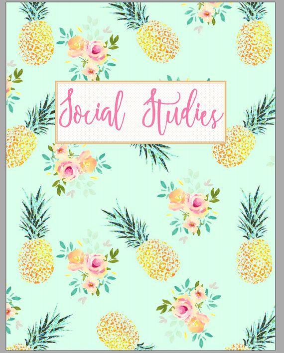 Pineapple Teacher Binder Covers