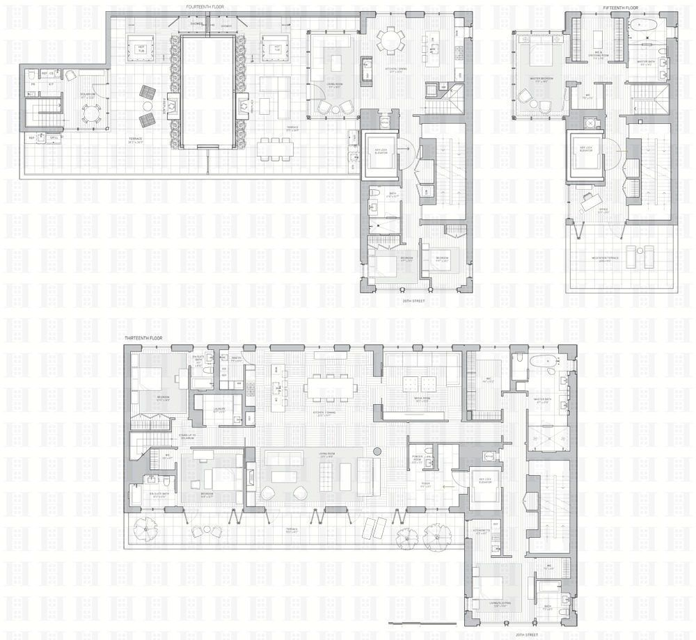 21 west 20th street 39 s triplex penthouse will cost 35 for Building a triplex costs