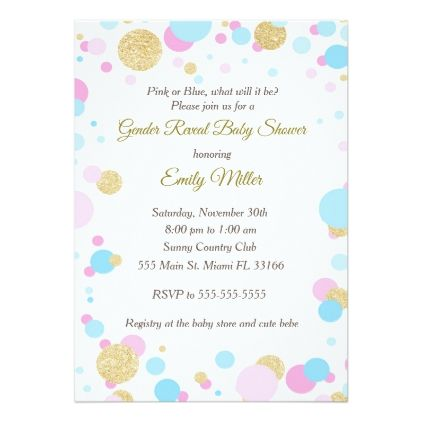 Pink blue gender reveal baby shower invitation glitter gifts pink blue gender reveal baby shower invitation glitter gifts personalize gift ideas unique negle Image collections