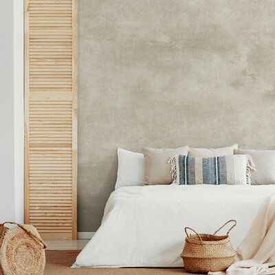 17 Stories Our versatile Venetian Plaster Faux Texture Wall Mural is smooth, but adds the look of texture to any space – whether your style is traditional, minimalist, or industrial. Color: Sand Beige, Size: 108