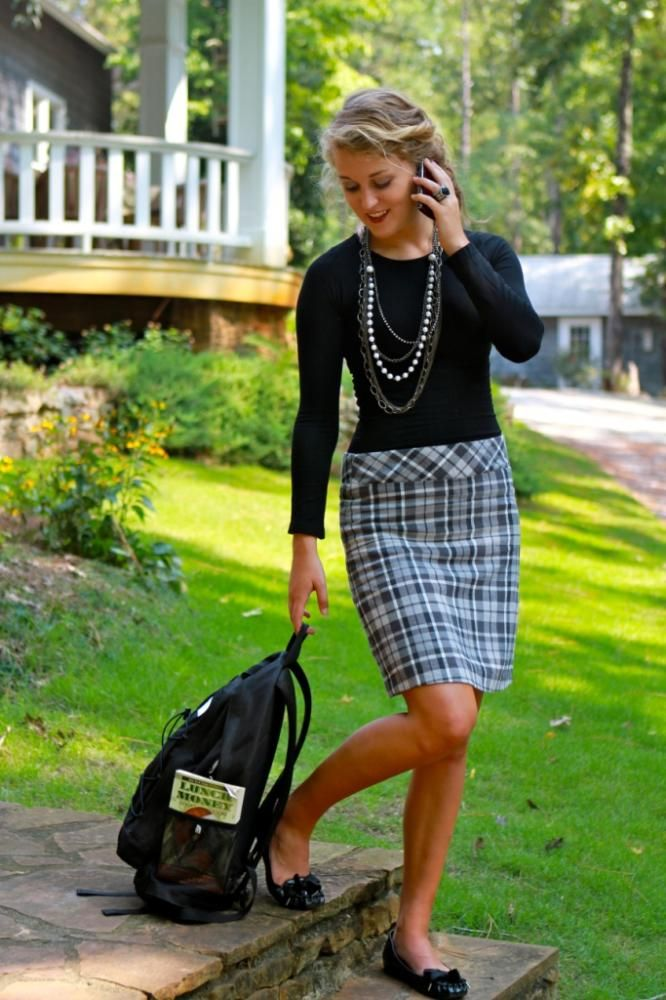 i love anything plaid...love the shirt and necklace too!