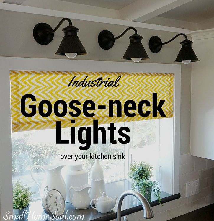 Kitchen Sink Light Fixtures: I Bought These Beautiful Industrial Goose-neck Lights For