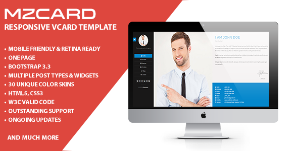 Milzincard responsive vcard template virtual business card milzincard responsive vcard template virtual business card download business creative accmission Gallery