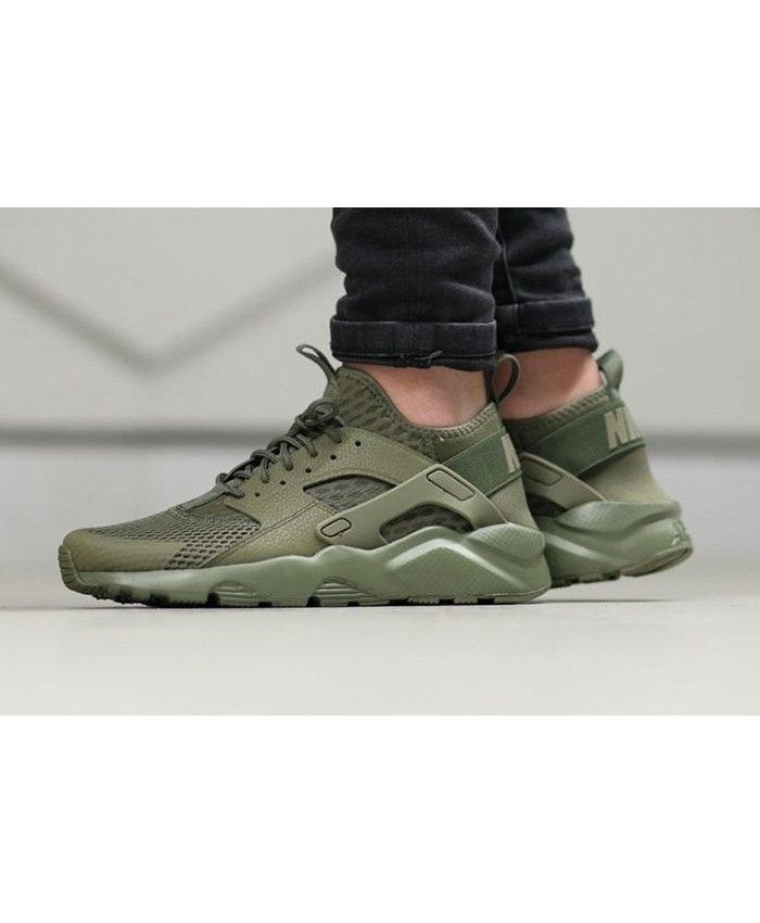 mens nike huarache ultra green gold