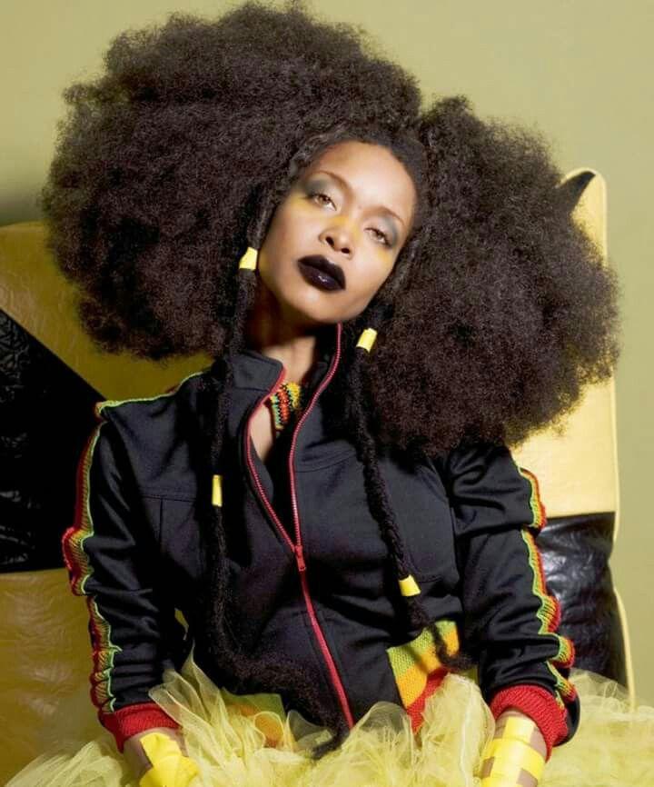 Erika Badu Women Pinterest Big Curly Hair And Makeup