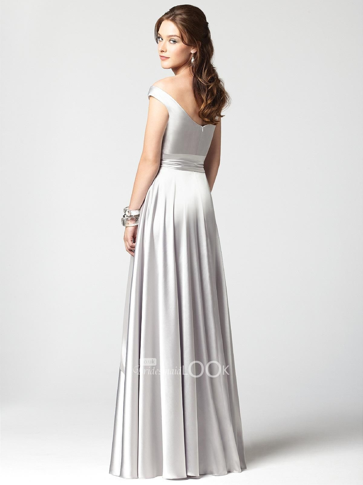 Elegant silver bridesmaid dress off the shoulder stretch with elegant silver bridesmaid dress off the shoulder stretch with natural ombrellifo Image collections