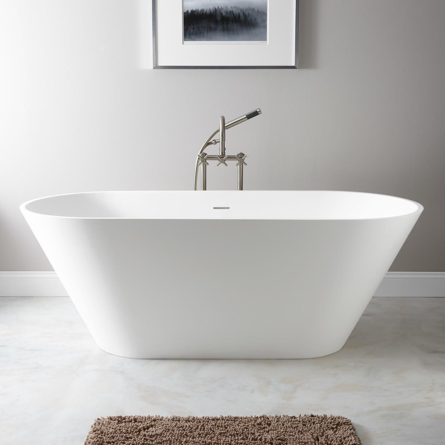 68 Oria Resin Freestanding Tub Solid Surface Tubs Bathtubs