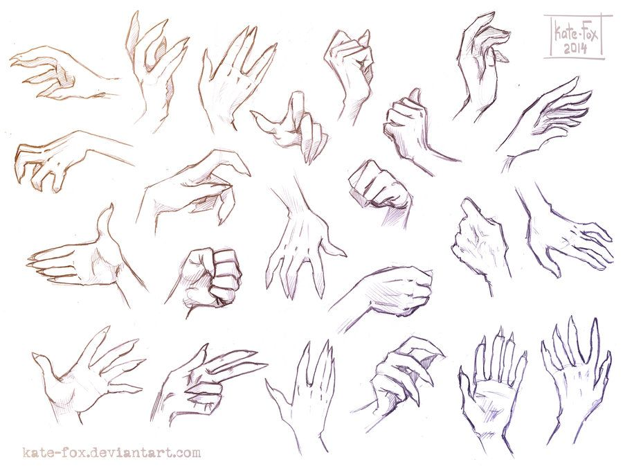 This is a graphic of Critical Hand Drawing Poses